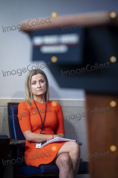 White House Photo - Sarah Matthews White House deputy press secretary listens during a news conference in the James S Brady Press Briefing Room at the White House in Washington DC US on Monday June 22 2020 Credit Al Drago  Pool via CNPAdMedia