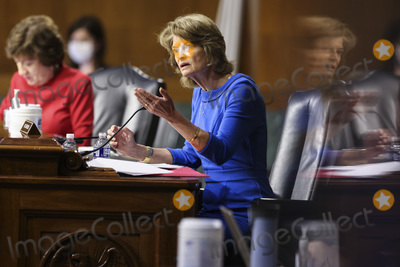 Lisa Murkowski Photo - WASHINGTON DC - APRIL 20 United States Senator Lisa Murkowski (Republican of Alaska) speaks duringa Senate Appropriations Committee hearingto examine the American Jobs Plan focusing on infrastructure climate change and investing in our nations future on Tuesday April 20 2021 on Capitol Hill in Washington DCCredit Oliver Contreras  Pool via CNP