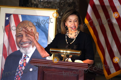 Alcee Hastings Photo - Speaker of the United States House of Representatives Nancy Pelosi (Democrat of California) delivers remarks during a ceremony honoring the late US Representative Alcee Hastings (Democrat of Florida) in Statuary Hall at the US Capitol in Washington DC on Wednesday April 21 2021 Rep Hastings the longest-serving member of the Florida congressional delegation died at the age of 84 after a battle with pancreatic cancerCredit Tasos Katopodis  Pool via CNPAdMedia
