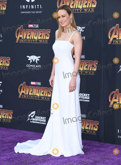 Brie Larson Photo - 23 April 2018 -  Hollywood California - Brie Larson Disney and Marvels Avengers Infinity War Los Angeles Premiere held at Dolby Theater Photo Credit Birdie ThompsonAdMedia
