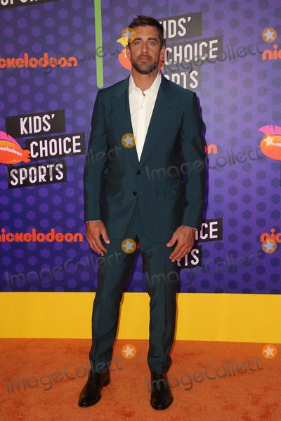 Aaron Rodgers Photo - 19 July 2018 - Santa Monica California - Aaron Rodgers Nickelodeon Kids Choice Sports Awards 2018 held at Barker Hangar Photo Credit Faye SadouAdMedia