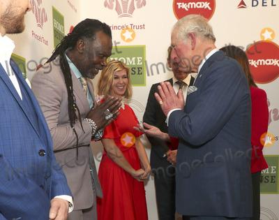 Roots Photo - 11032020 - Levi Roots Kate Garraway and Prince Charles at The Princes Trust Awards 2020 At The London Palladium Photo Credit ALPRAdMedia