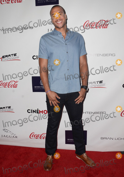 Aaron Hines Photo - 29 August 2015 - Beverly Hills California - Aaron Hines Arrivals for the Children Uniting Nations and National Coalition Against Domestic Violence Benefit held at a Private Residence Photo Credit Birdie ThompsonAdMedia