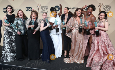 Yael Stone Photo - 29 January 2017 - Los Angeles California - Danielle Brooks Selenis Leyva Adrienne C Moore Yael Stone Madeline Brewer Annie Golden Emma Myles Lin Tucci Beth Fowler 23rd Annual Screen Actors Guild Awards held at The Shrine Expo Hall Photo Credit F SadouAdMedia