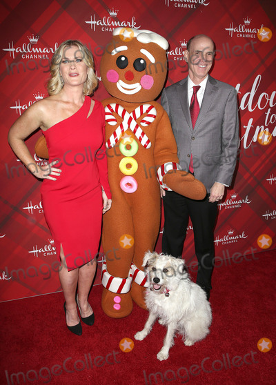 Alison Sweeney Photo - 04 December 2017 - Los Angeles California - Alison Sweeney Happy the Dog Gingerbread man figure Bill Abbott Hallmark Channel Screening of Christmas at Holly Lodge held at The Grove Photo Credit F SadouAdMedia