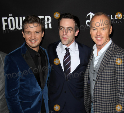 B J Novak Photo - 11 January 2017 - Los Angeles California - Jeremy Renner BJ Novak Michael Keaton The Founder Premiere held at the Cinerama Dome at the ArcLight Hollywood Photo Credit AdMedia