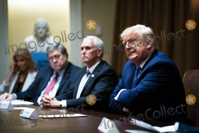 Mike Pence Photo - United States President Donald J Trump makes remarks as he participates in a roundtable about senior citizens in the Cabinet Room of the White House Monday June 15 2020  From left to right Senior Counselor Kellyanne Conway US Attorney General William P Barr  US Vice President Mike Pence the presidentCredit Doug Mills  Pool via CNPAdMedia