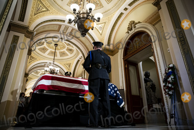Elijah Cummings Photo - A Capitol Police honor guard stands watch over the casket of late United States Representative Elijah Cummings (Democrat of Maryland) outside the House Chamber at the US Capitol in Washington DC US on Thursday Oct 24 2019 Cummings a key figure in Democrats impeachment inquiry and a fierce critic of US President Donald J Trump died at the age of 68 on October 17 due to complications concerning long-standing health challenges Credit Al Drago  Pool via CNPAdMedia