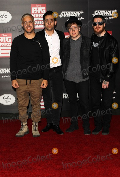 Andy Hurley Photo - 4 November 2014 - Hollywood California - Joe Trohman Patrick Stump Andy Hurley Pete Wentz Disneys Big Hero 6  Los Angeles Premiere Held at The El Capitan Theatre Photo Credit FSadouAdMedia