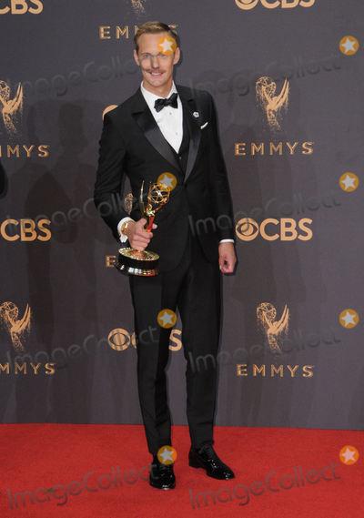 Alexander Skarsgard- Photo - 17 September  2017 - Los Angeles California - Alexander Skarsgard 69th Annual Primetime Emmy Awards -  Press Room held at Microsoft Theater in Los Angeles Photo Credit Birdie ThompsonAdMedia