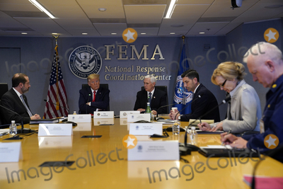 Alex Azar Photo - United States President Donald J Trump attends a teleconference with governors at the Federal Emergency Management Agency headquarters Thursday March 19 2020 in Washington DC From left US Secretary of Health and Human Services (HHS) Alex Azar President Trump US Vice President Mike Pence acting US Secretary of Homeland Security Chad Wolf Dr Deborah L Birx White House Coronavirus Response Coordinator and Admiral Brett Giroir US Assistant Secretary for Health Credit Evan Vucci  Pool via CNPAdMedia