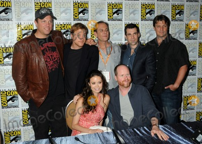 Alan Tudyk Photo - 13 July 2012 - San Diego California - Adam Baldwin Alan Tudyk Summer Glau Tim Minear Joss Whedon Sean Maher Nathan Fillion Firefly Press Room at Comic Con 2012 held at the Bayfront Hilton Hotel Photo Credit Byron PurvisAdMedia