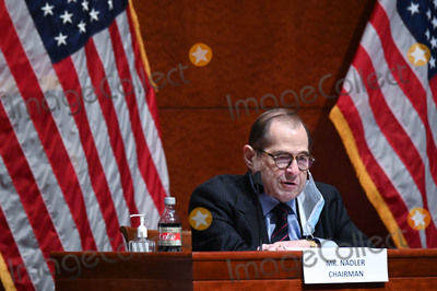 Train Photo - United States Representative Jerrold Nadler (Democrat of New York) Chairman US House Judiciary Committee makes opening statements during a markup on HR 7120 the Justice in Policing Act of 2020 in Washington DC US on Wednesday June 17 2020 The House bill would make it easier to prosecute and sue officers and would ban federal officers from using choke holds bar racial profiling end no-knock search warrants in drug cases create a national registry for police violations and require local police departments that get federal funds to conduct bias trainingCredit Erin Scott  Pool via CNPAdMedia