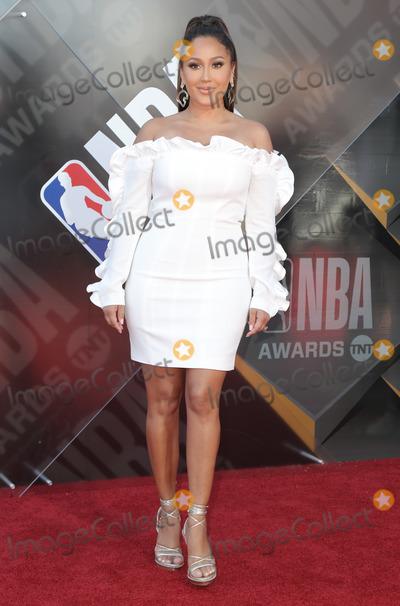 Adrienne Bailon Photo - 25 June 2018 - Santa Monica California - Adrienne Bailon Adrienne Houghton 2018 NBA Awards held at Barker Hangar Photo Credit PMAAdMedia
