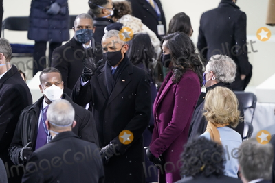 Michelle Obama Photo - Former United States President Barack Obama greets guests with former first lady Michelle Obama and former US President George W Bush prior to Joe Biden takes the Oath of Office as the 46th President of the US at the US Capitol in Washington DC on Wednesday January 20 2021  Credit Chris Kleponis  CNPAdMedia