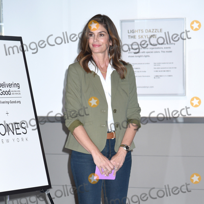 Cindy Crawford Photo - 04 March 2020 - New York New York - Cindy Crawford at the ceremonial lighting of the Empire State Building in celebrating International Womens Day and promoting the nonprofit Delivering Good Held in the Lobby and on the Observation Deck of the Empire State Building Photo Credit LJ FotosAdMedia