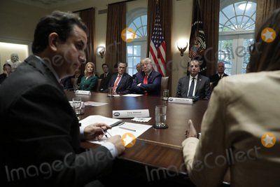 Alex Azar Photo - United States President Donald J Trump listens to debates during a meeting on youth vaping and the electronic cigarette epidemic in the Cabinet Room at the White House in Washington on November 22 2019  Pictured with the President left to right Senior Counselor Kellyanne Conway US Senator Mitt Romney (Republican of Utah) The President and US Secretary of Health and Human Services (HHS) Alex AzarCredit Yuri Gripas  Pool via CNPAdMedia
