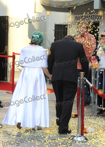 Andrew Porters Photo - 17 December 2015 - Hollywood California - Caroline Ritter Andrew Porters Fans Get Married With Star Wars Themed Wedding held at the TCL Chinese Theatre IMAX Photo Credit Byron PurvisAdMedia