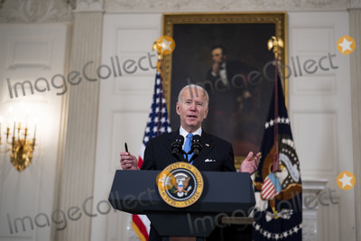 THE JOHNSONS Photo - United States President Joe Biden announces the partnership between Johnson and Johnson and Merck to produce the Johnson and Johnson Covid vaccine in the State Dining Room of the White House Tuesday March 2 2021  In his remarks the President Biden said there will be enough vaccine supply for every adult in America by the end of May  Credit Doug Mills  Pool via CNPAdMedia