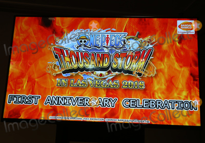 TI Photo - 26 January 2018 - Las Vegas NV - Atmosphere Bandai Namco Celebrate the one year anniversary of One Piece Thousand Storm and announce pending release of One Piece Bounty Rush with Maksim Chmerkovskiy and Valentin Chmerkovskiy at TI Photo Credit MJTAdMedia