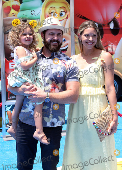 AJ Buckley Photo - 23 July 2017 - Westwood California - A J Buckley Abigail Ochse and Willow Phoenix Buckley The Emoji Movie World Premiere held at Regency Village Theatre Photo Credit F SadouAdMedia