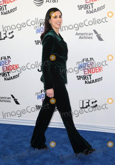Sarah Silverman Photo - 03 March 2018 - Santa Monica California - Sarah Silverman 33rd Annual Film Independent Spirit Awards held at the Santa Monica Pier Photo Credit F SadouAdMedia