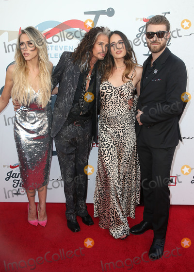 Aimee Preston Photo - LOS ANGELES CA - JANUARY 28 Aimee Preston Steven Tyler Chelsea Tyler Jon Foster at Steven Tyler and Live Nation presents Inaugural Janies Fund Gala  GRAMMY Viewing Party at Red Studios in Los Angeles California on January 28 2018 Credit Faye SadouMediaPunch