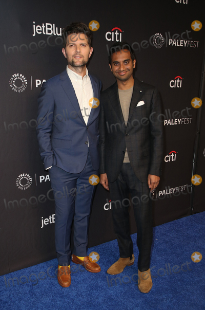 Adam Scott Photo - 21 March 2019 - Hollywood California - Aziz Ansari Adam Scott The Paley Center For Medias 2019 PaleyFest LA - Parks And Recreation 10th Anniversary Reunion held at The Wolf Theatre at The Dolby Theatre Photo Credit Faye SadouAdMedia