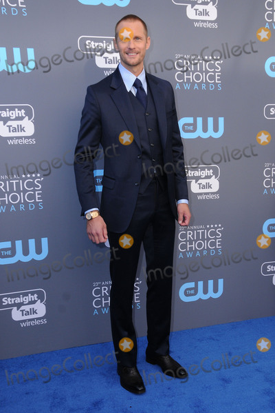 Alexander Skarsgard- Photo - 11 January 2018 - Santa Monica California - Alexander Skarsgard 23rd Annual Critics Choice Awards held at Barker Hangar Photo Credit Birdie ThompsonAdMedia
