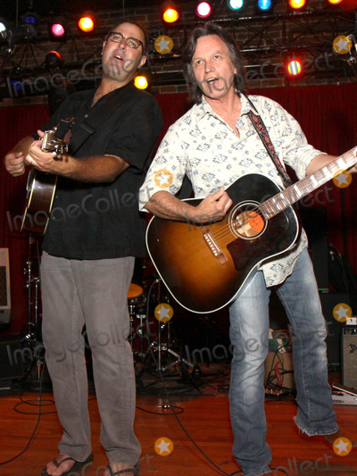 Jeff Hanna Photo - July 26 2011 - Nashville TN - Vince Gill and Jeff Hanna Artists musicians and songwriters came together at Mercy Lounge to help raise funds for Pete Huttlinger a widely respected guitarist and Nashville studio artist  Huttlinger has a congenital heart disease and is in need of a heart transplant Photo credit Dan HarrAdmedia