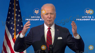 Queen Photo - United States President-elect Joe Biden makes remarks on his plan to administer COVID-19 vaccines to the US population from the Queen Theatre in Wilmington Delaware on Friday January 15 2021 Credit Biden Transition TV via CNPAdMedia