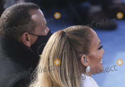Alex Rodriguez Photo - Singer Jennifer Lopez smiles next to Alex Rodriguez during the inauguration of Joe Biden as the 46th President of the United States on the West Front of the US Capitol in Washington US January 20 2021 REUTERSJonathan ErnstPoolAdMedia