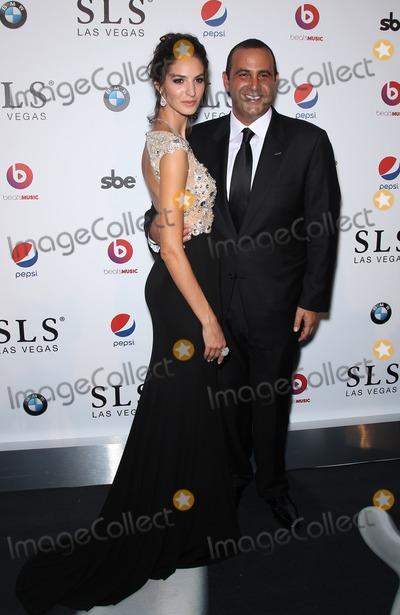 Sam Nazarian Photo - 22 August 2014 - Las Vegas Nevada - Emina Cunmulaj Sam Nazarian SLS Las Vegas celebrates its Grand Opening with a celebrity studded red carpet  Photo Credit MJTAdMedia