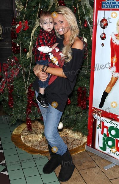 Angel Porrino Photo - 18 December 2010 - Las Vegas Nevada - Angel Porrino and son Holly Madison wraps up her Holly Jolly Toy Drive at El Segundo Sol Restaurant inside the Fashion Show Mall Photo MJTAdMedia