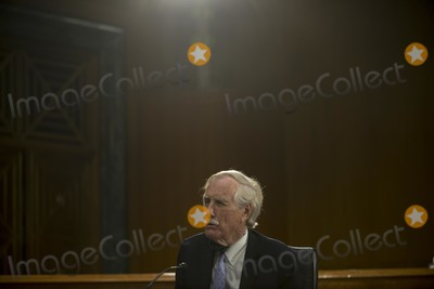 Angus King Photo - United States Senator Angus King Jr (Independent of Maine) questions nominee US Representative John Ratcliffe (Republican of Texas) for Director of National Intelligence during the US Senate Select Committee on Intelligence nomination hearing at the Dirksen Senate Office building on Capitol Hill in Washington DC on Tuesday May 5 2020 Credit Gabriella Demczuk  Pool via CNPAdMedia