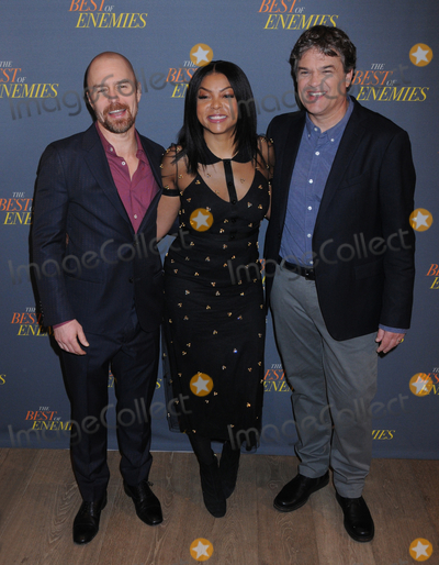 Taraji P Henson Photo - 17 March 2019 - New York New York - Sam Rockwell Taraji P Henson and Robin Bisell at The Best of Enemies New York Photo Call presented by STX Films at the Whitby Hotel in Midtown Photo Credit LJ FotosAdMedia