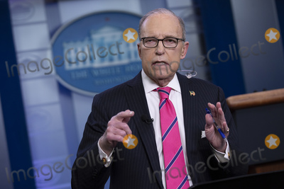 Vanessa Larr Photo - Director of the National Economic Council Larry Kudlow speaks to members of the media following a television interview in the James S Brady Press Briefing Room at the White House in Washington DC US on Thursday February 13 2020Credit Stefani Reynolds  CNPAdMedia