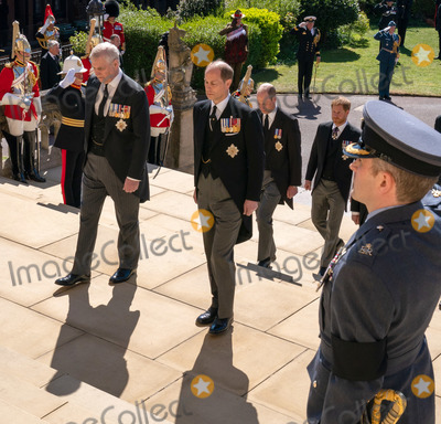 Prince William Photo - Photo Must Be Credited Alpha Press 073074 17042021Prince Andrew Duke of York Prince Edward Earl of Wessex Prince William Duke of Cambridge Prince Harry Duke of Sussex during the funeral of Prince Philip Duke of Edinburgh at St Georges Chapel in Windsor Castle in Windsor Berkshire No UK Rights Until 28 Days from Picture Shot Date AdMedia