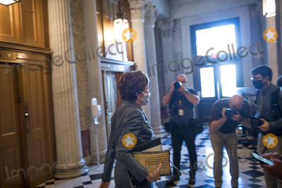 The Used Photo - United States Senator Susan Collins (Republican of Maine) makes her way to an elevator following a vote at the US Capitol in Washington DC Wednesday October 21 2020 Credit Rod Lamkey  CNPAdMedia