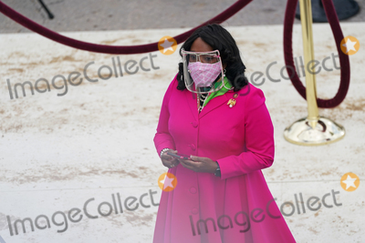 Alabama Photo - ((Sent direct from camera please tone and crop)) NYTINAUG - Rep Terri Sewell of Alabama before the ceremony The inauguration ceremony for President Joe Biden and Vice President Kamala Harris on the west front of the US Capitol in Washington on January 20 2021 NYTCREDIT Erin SchaffThe New York TimesAdMedia