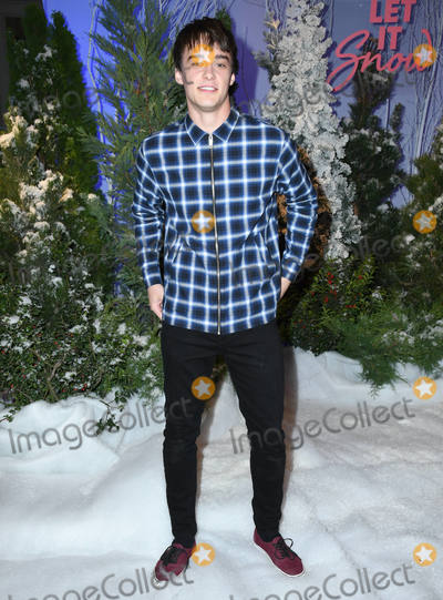 Four Seasons Photo - 01 November 2019 - Beverly Hills California - Mitchell Hope Netflixs Let It Snow Photo Call held at Four Season Hotel Photo Credit Birdie ThompsonAdMedia