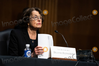 Senator Dianne Feinstein Photo - United States Senator Dianne Feinstein (Democrat of California) does an introduction for Janet L Yellen of California President-elect Joe Bidens nominee for Treasury Secretary at a Senate Finance Committee hearing in Washington DC January 19th 2021Credit Anna Moneymaker - Pool via CNPAdMedia