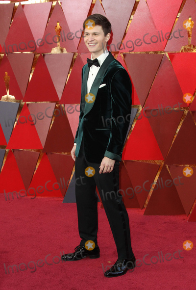 Ansel Elgort Photo - 04 March 2018 - Hollywood California - Ansel Elgort 90th Annual Academy Awards presented by the Academy of Motion Picture Arts and Sciences held at Hollywood  Highland Center Photo Credit AdMedia