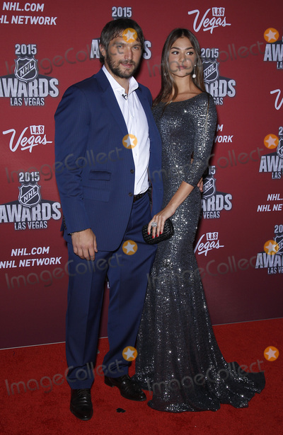 Alex Ovechkin Photo - 24 June 2015 - Las Vegas Nevada -  Alex Ovechkin Nastya Shubskaya 2015 NHL Awards Red Carpet Arrivals at MGM Grand Hotel and Casino  Photo Credit MJTAdMedia