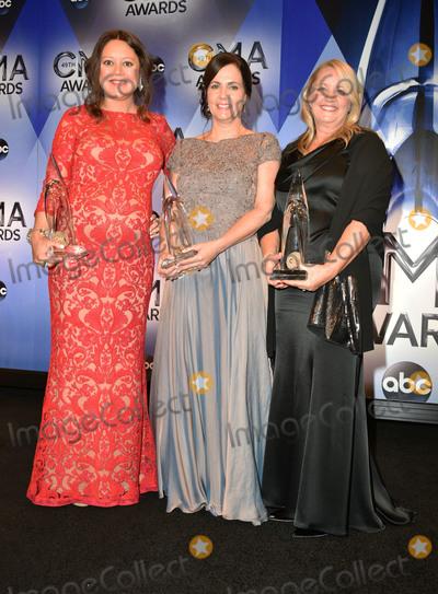 Hillary Lindsey Photo - 04 November 2015 - Nashville Tennessee - Hillary Lindsey Lori McKenna Liz Rose 49th Annual CMA Awards CMA Awards 2015 Country Musics Biggest Night held at Bridgestone Arena Photo Credit AdMedia