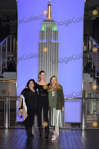 The Ceremonies Photo - 02 March 2020 - New York New York - Behati Prinsloo does the ceremonial lighting of the Empire State Building in celebration of World Wildlife Day at the Empire State Building Photo Credit LJ FotosAdMedia