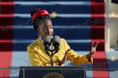 Amanda Gorman Photo - American poet Amanda Gorman reads a poem during the 59th Presidential Inauguration at the US Capitol in Washington Wednesday Jan 20 2021 (AP PhotoPatrick Semansky Pool)AdMedia
