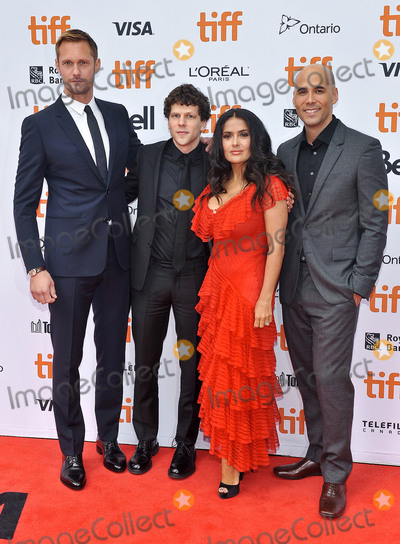 Alexander Skarsgrd Photo - 08 September 2018 - Toronto Ontario Canada - Alexander Skarsgrd Jesse Eisenberg Salma Hayek Kim Nguyen The Hummingbird Project Premiere - 2018 Toronto International Film Festival held at the Princess of Wales Theatre Photo Credit Brent PerniacAdMedia