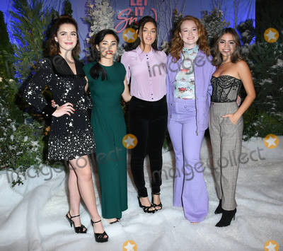 Anna Akana Photo - 01 November 2019 - Beverly Hills California - Kiernan Shipka Anna Akana Odeya Rush Liv Hewson Isabel Merced Netflixs Let It Snow Photo Call held at Four Season Hotel Photo Credit Birdie ThompsonAdMedia
