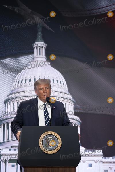 RITZ CARLTON Photo - United States President Donald J Trump speaks at the 2020 Council for National Policy Meeting at the Ritz Carlton in Arlington VA on Thursday August 20 2020   Credit Tasos Katopodis  Pool via CNPAdMedia